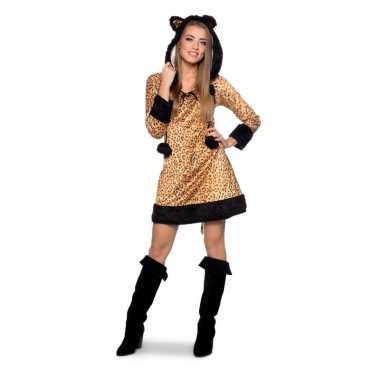 Panter dierenverkleedkleren jurkje voor dames