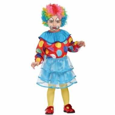 Peuter meisjes verkleedkleren clown
