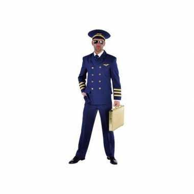 Piloten verkleedkleren heren blauw