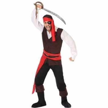 Piraat john verkleed pak/verkleedkleren voor heren