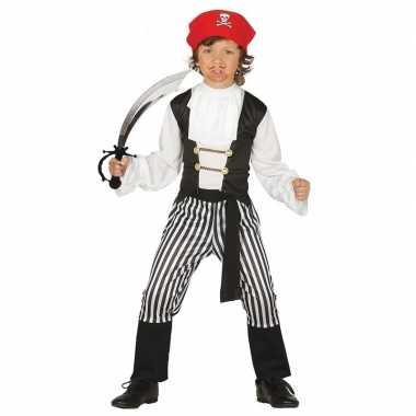 Piraten verkleedkleren maat 128 134 met zwaard voor kinderen