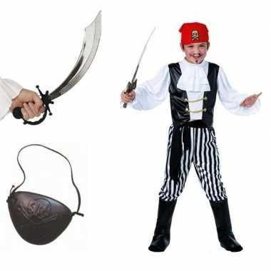 Piraten verkleedkleren maat m voor kids