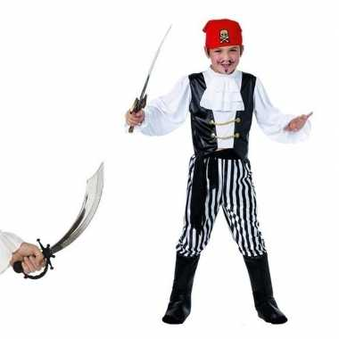 Piraten verkleedkleren maat s met zwaard voor kids