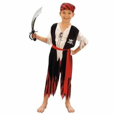 Piraten verkleedkleren maat s met zwaard voor kinderen