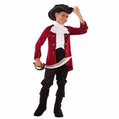 Piraten verkleedkleren rood zwart voor jongens