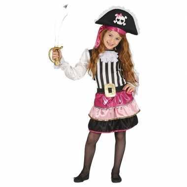 Piraten verkleedkleren roze voor meisjes