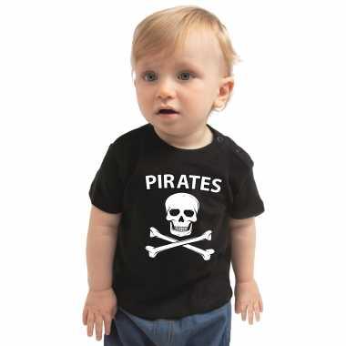 Piraten verkleedkleren shirt zwart voor babys