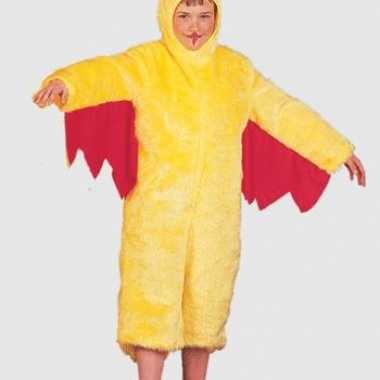 Pluche gele kip kinder verkleedkleren