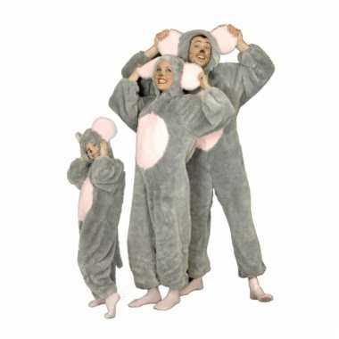 Pluche grijze muis verkleedkleren