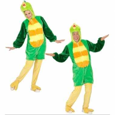 Pluche groene vogel verkleedkleren