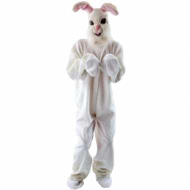 Pluche konijn verkleedkleren voor volwassenen