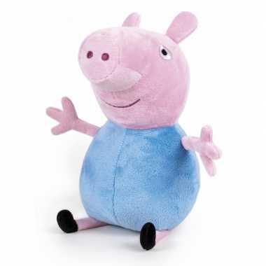 Pluche peppa pig/big knuffel in blauwe verkleedkleren 42 cm speelgoed
