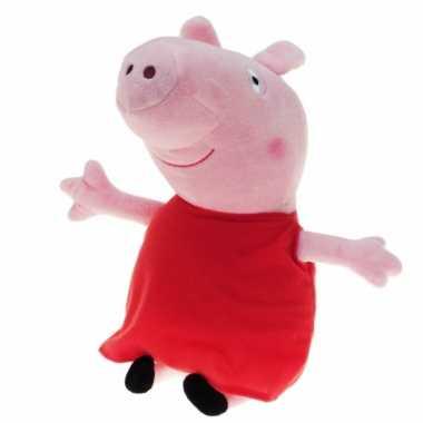 Pluche peppa pig/big knuffel met rode verkleedkleren 28 cm speelgoed