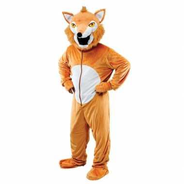 Pluche vos verkleedkleren voor volwassenen