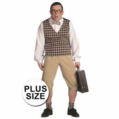 Plus size nerd verkleedkleren heren