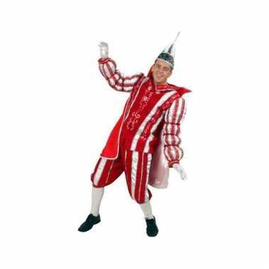 Prins verkleedkleren rood/wit