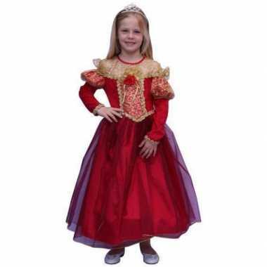 Prinsessen verkleedkleren voor meisjes in de kleur rood