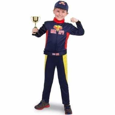 Race/formule 1 verkleedkleren met beker voor jongens