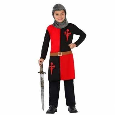 Ridder pak/verkleedkleren rood voor jongens