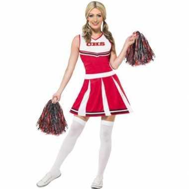 Rode cheerleader verkleedkleren dames