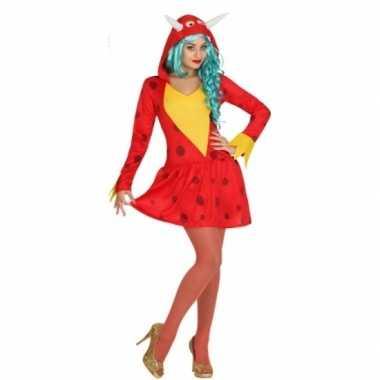 Rode draak verkleedkleren voor dames