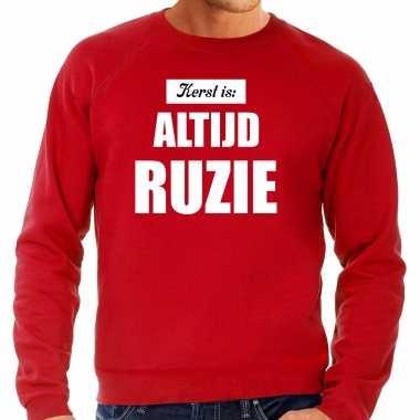 Rode foute kersttrui / sweater kerst is: altijd ruzie verkleedkleren heren
