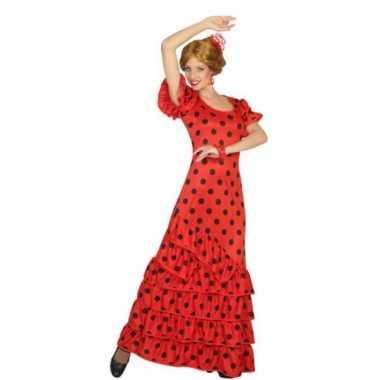Rode spaanse verkleedkleren jurk