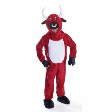 Rode stier verkleedkleren voor volwassenen