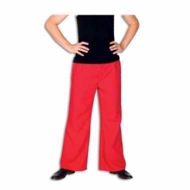 Rode verkleedkleren broek voor heren