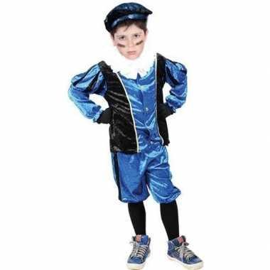 Roetveeg pieten verkleedkleren blauw/zwart voor kinderen