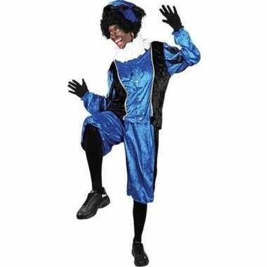 Roetveeg pieten verkleedkleren blauw/zwart voor volwassenen