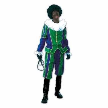 Roetveeg pieten verkleedkleren groen/blauw voor dames en heren