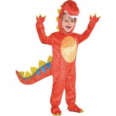 Rood dinosaurus verkleedkleren voor kids
