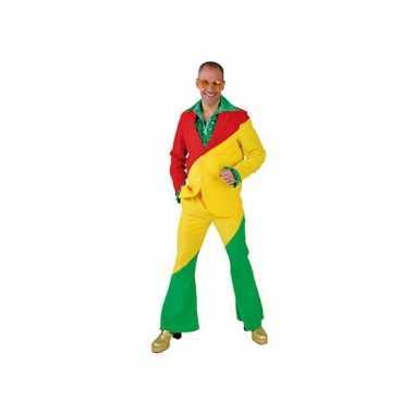 Rood/geel/groene verkleedkleren voor volwassenen