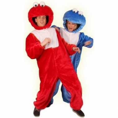 Rood pluche monster verkleedkleren