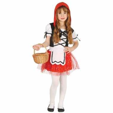 Roodkapje verkleedkleren/jurkje voor meisjes