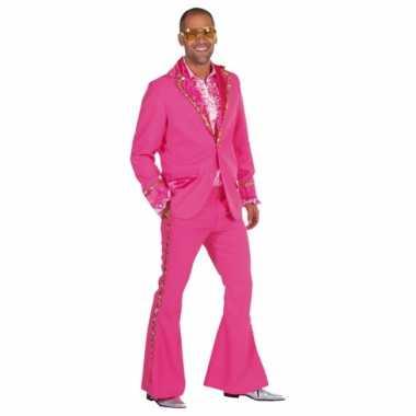 Roze glitter verkleedkleren heren