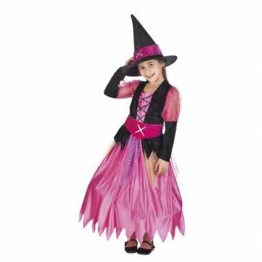 Roze heksen verkleedkleren voor meisjes