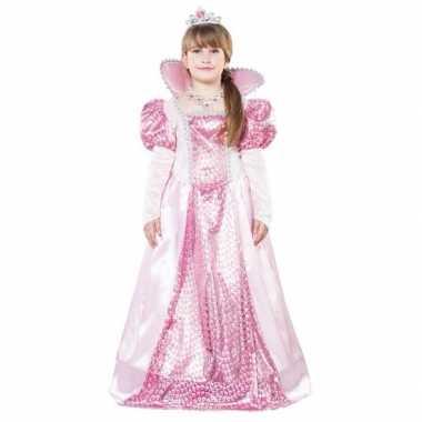 Roze koningin verkleedkleren voor meisjes