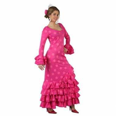 Roze spaanse verkleedkleren jurk