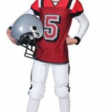 Rugby verkleedkleren rood met wit voor kids