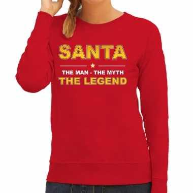 Santa sweater / verkleedkleren / the man / the myth / the legend rood voor dames