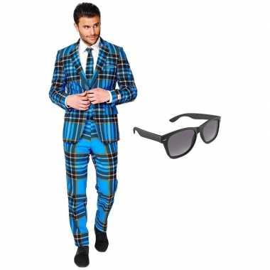 Schotse print heren verkleedkleren maat 54 (xxl) met gratis zonnebril