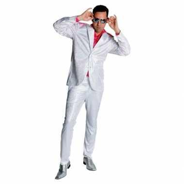 Seventies glitter verkleedkleren in het wit