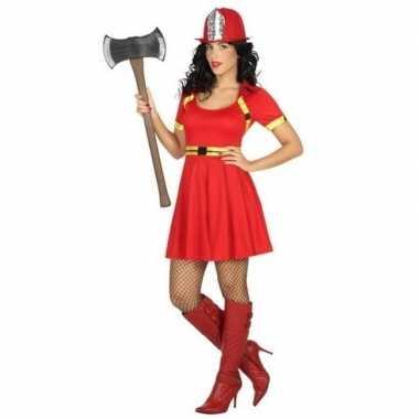 Sexy brandweervrouw verkleedkleren/jurkje voor dames