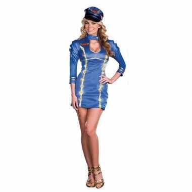 Sexy lichtgevende stewardessen verkleedkleren