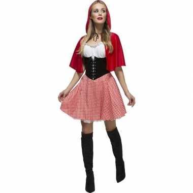 Sexy roodkapje verkleedkleren/jurkje voor dames