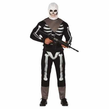 Skelet soldaat verkleedkleren voor heren