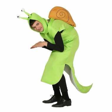 Slak verkleedkleren groen voor volwassenen