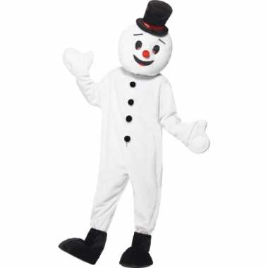 Sneeuwpop mascotte verkleedkleren